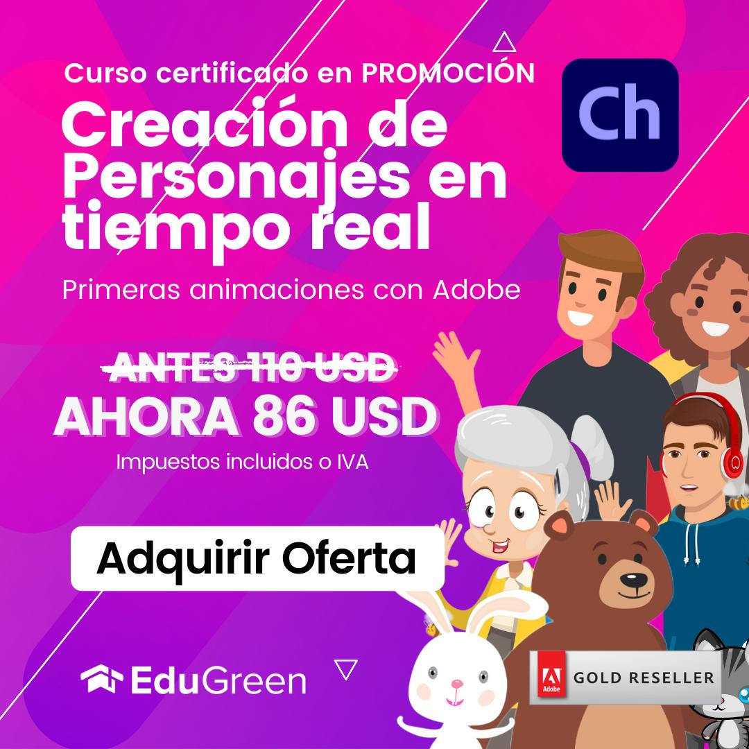 Curso Certificado Creación de Personajes Animados en Character Animator